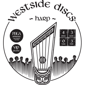 Westside Discs Harp Stamp
