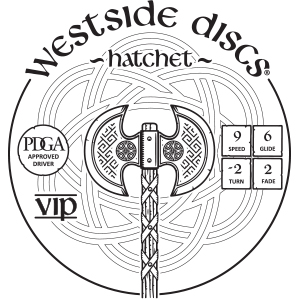 Westside Discs Hatchet Stamp